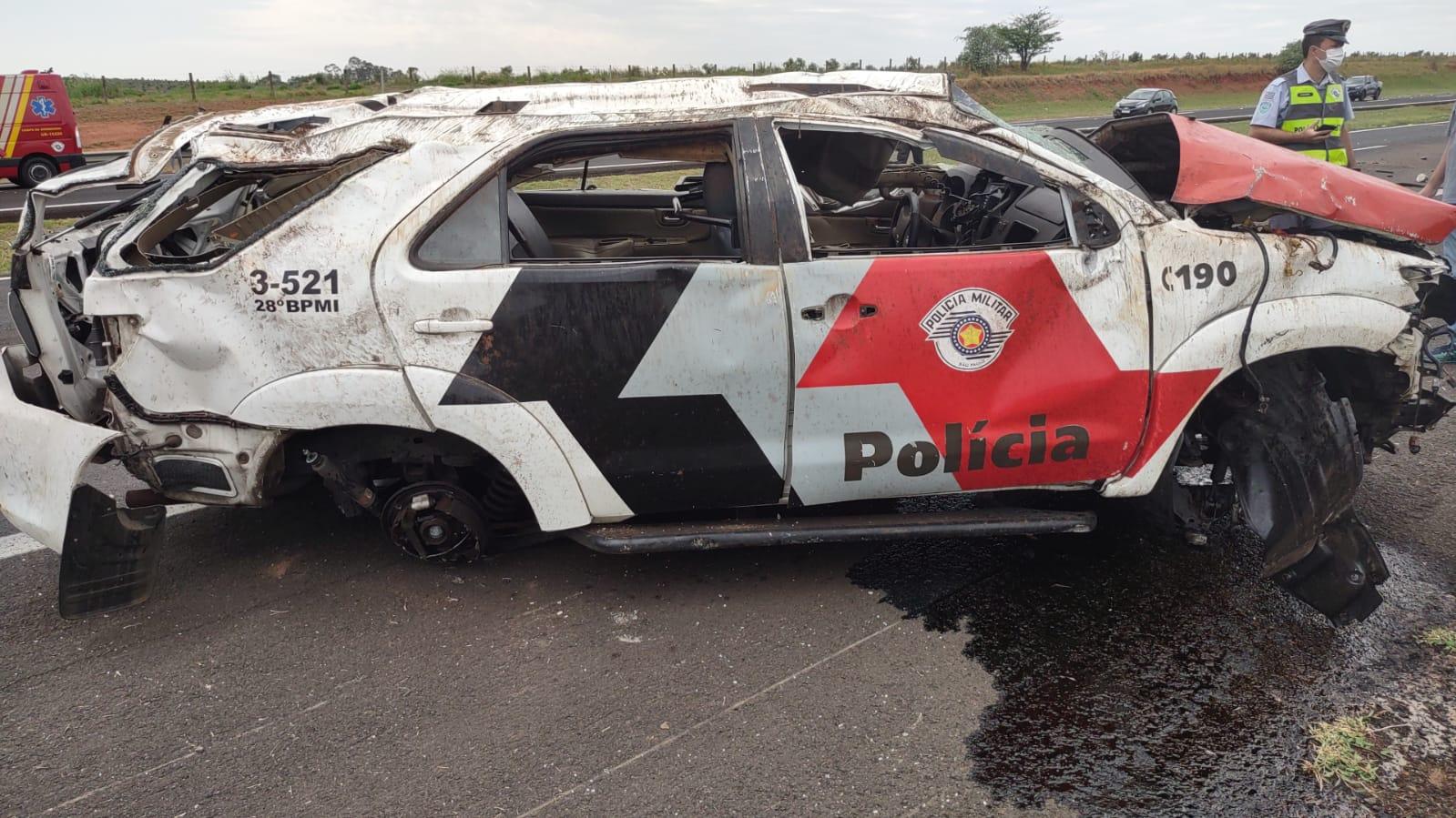 Capotamento de viatura de Andradina mata sargento da PM e deixa dois em estado grave - Reprodução