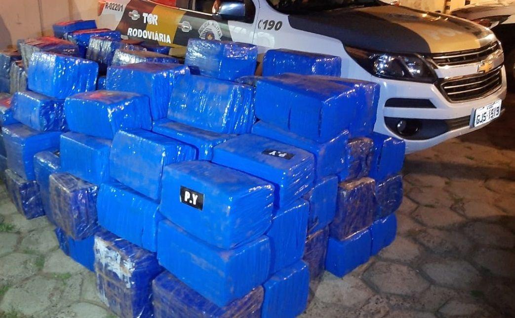 Polícia Rodoviária apreende quase 3 toneladas de maconha em Pirapozinho - Divulgação/Polícia Rodoviária