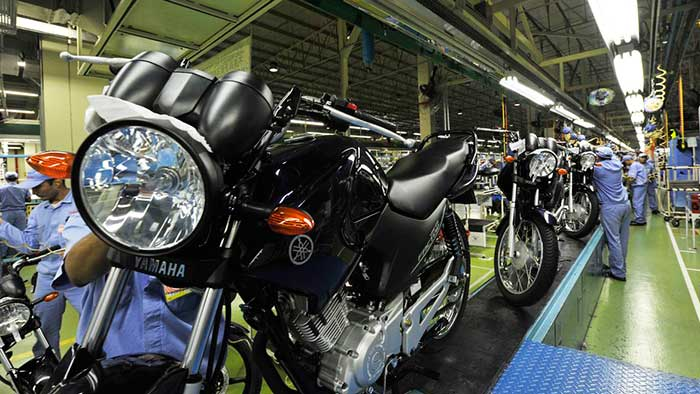 No 2º melhor mês do ano, produção de motos sobe 30,2% em agosto, diz Abraciclo - Reprodução
